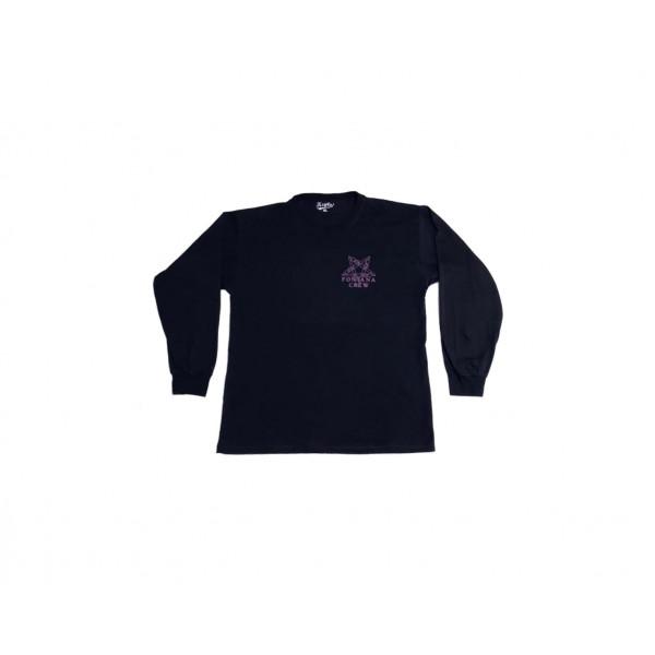 Fontana Crew Long sleeve T-shirt in purple